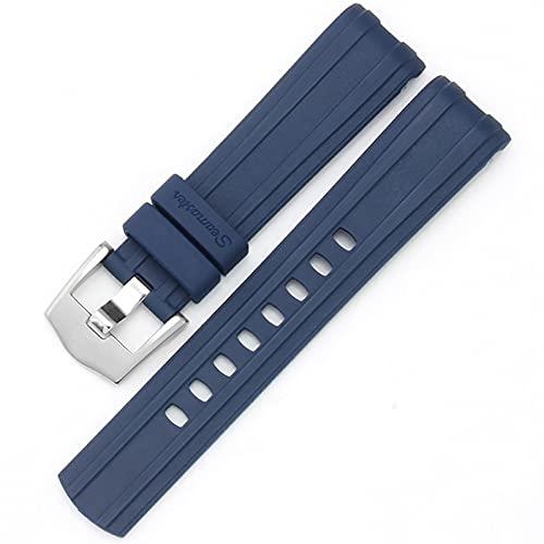 LGFCOK Reloj Banda para Omega Seamaster 007 Planet Ocean AT150 Pin Hebilla de Silicona Reloj de Silicona Accesorios Accesorios de Reloj de Goma Pulsera