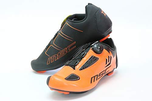MSC Bikes Aero Road Zapatilla de Ciclismo, Adultos Unisex, Naranja, 39
