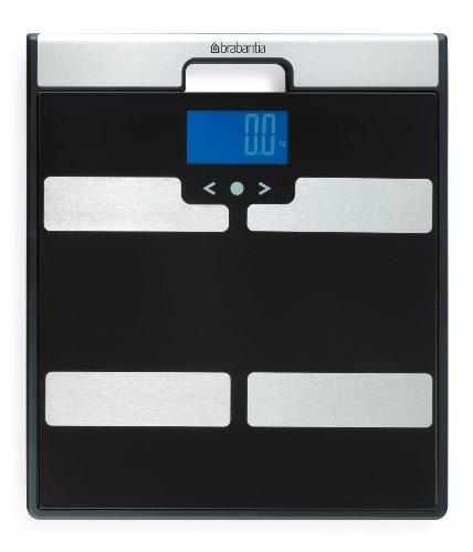 Brabantia 481949 - Báscula con análisis corporal, color negro