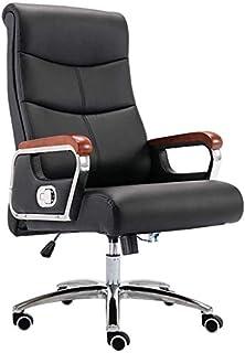 DBL Silla de la computadora de escritorio de piel Bseack juego Silla con altura ajustable de escritorio de alta respaldo reclinable Oficina ergonómica ejecutiva de piel silla de la computadora de escr