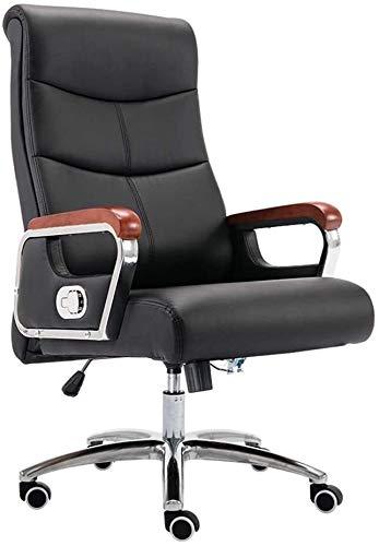 DBL Silla de cuero de la computadora de escritorio del juego Silla con altura ajustable de escritorio de alta respaldo reclinable Oficina ergonómica ejecutiva de piel silla de la computadora de escrit