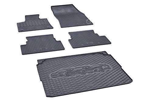 Passende Gummimatten und Kofferraumwanne Set geeignet für Peugeot 3008 ab 2016ein Satz + Gurtschoner