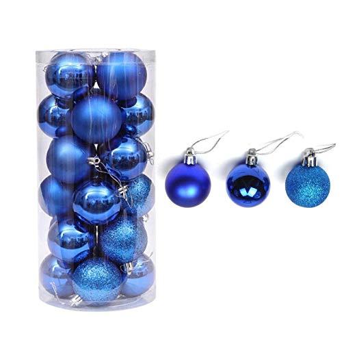 JIASHA Palle di Natale,Blu Decorazione Albero di Natale,Baubles Decorati Lucidi, per Decorazione Dell'Albero di Natale