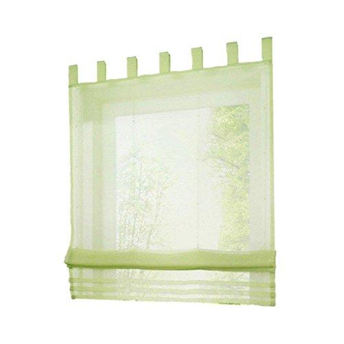 Nvfshreu gordijn, effen kleur, voor ramen, vlaggen, kleuren om uit te kiezen, grijs, eenvoudig, stijl 100, 155 cm, venster Size Grün-120 × 155 Cm