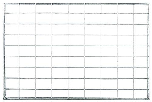 ID mat 4060 L rooster metaal tapijt deurmat staal verzinkt grijs 60 x 40 x 2 cm