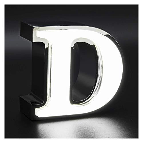 Letras iluminadas de 15x20cm con 3cm grosor de Acero Lateral con Frontal de Metacrilato y Luz Frontal (3Z0019YB). Personalizado (3Z0019YB-1)