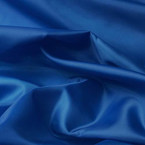 aktivstoffe (1,99€/m) Seda Tafetán - 100% poliéster - por Metro - 27 Colores (Azul Real)
