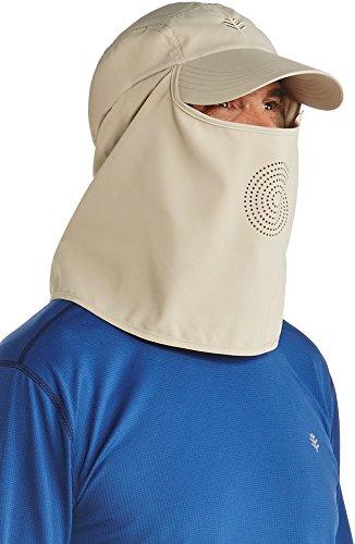 Coolibar - UV-Sonnenkappe mit Hals- und Gesichtsbedeckung- Beige