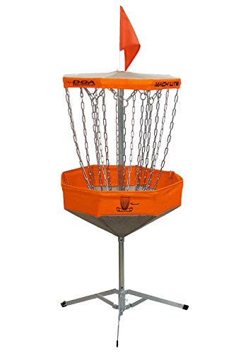 DGA Mach Lite Portable Disc Golf Basket-Orange