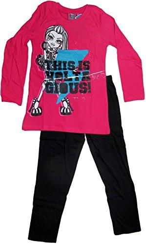 Monster High Pyjama 2014 Kollektion 122 128 134 140 146 152 158 164 Schlafanzug Lang Mädchen Nachtwäsche L5 Pink-Schwarz Frankie (122 - 128)