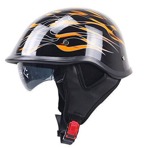 Brain Cap-Steel Half Shell Motorcycle Helmet,Retro Crash Protection Safety Protect Helmet,Cap Racing Helmet,Half-Shell Jet Helmet,ECE/DOT Approved