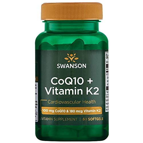 Swanson Coq10 + Vitamina K2 60 geles