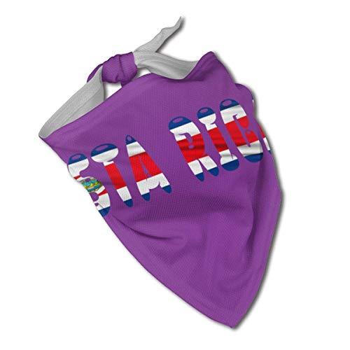 XZ-Sky Bandera de Costa Rica Collares de Bandana para Perros Orgullosos Pañuelo Triangular Baberos Bufanda Accesorios Gatos para Mascotas