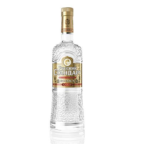 Russian Standard Gold - 40% Vodka (1 x 0,7l) - Premium-Vodka aus Russland - mit Extrakten sibirischen Ginsengs