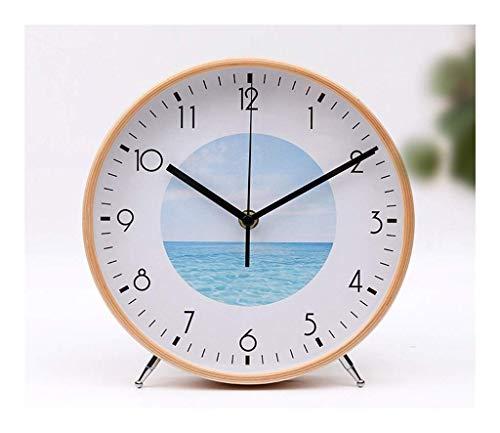 Yxxc -Bracket Clock Reloj de Mesa con Personalidad y Creativo Reloj de péndulo de Escritorio de péndulo silencioso electrónico, Utilizado en Cocina, dormit