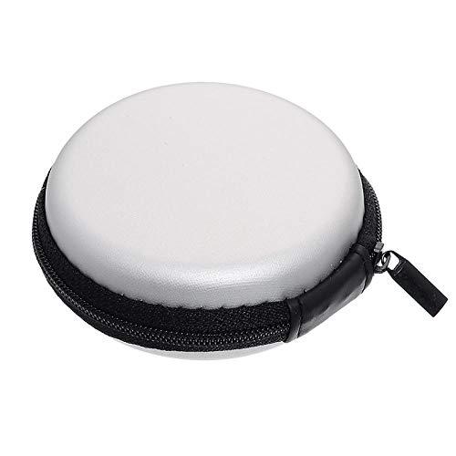 Portemonnee, draagbaar, van siliconen, mini-tas, rond, voor koptelefoon, SD-kaart, kaartenvak, 8,5 x 3,8 cm