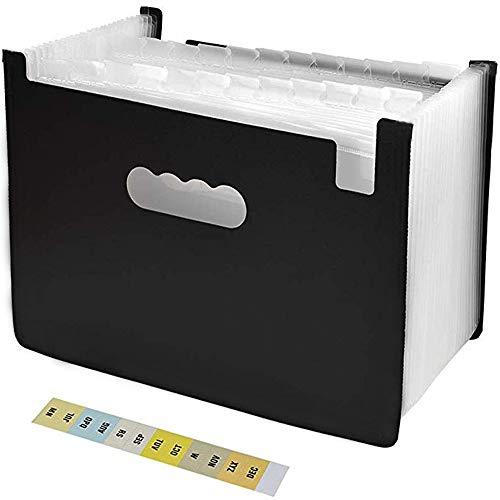 ドキュメントスタンドA4 ファイルボックス 25ポケット 書類ケース 収納ボックス 整理 自立型…