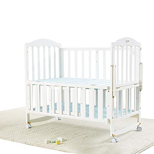 Affordable XJJUN-Rocking Crib Rocking Crib and Large Bed Stitching Mosquito Net Mattress Swing Multi...