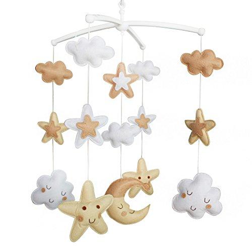 [Nuages et étoiles] Crib Décoration Musical Mobile, Beau jouet suspendu