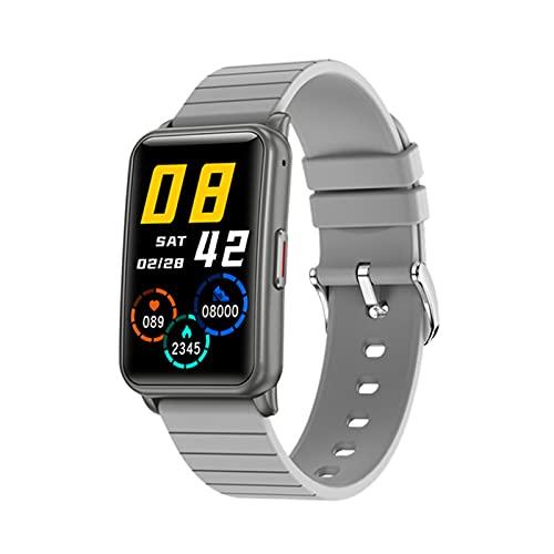 ZRY Reloj Inteligente De Los Hombres H96 Bluetooth Llamada Música Reproducir Mensaje Mensaje Recordatorio Actividad Rastreador Femenino Tasa del Corazón Monitoreo del Sueño Pulsera Impermeable,A