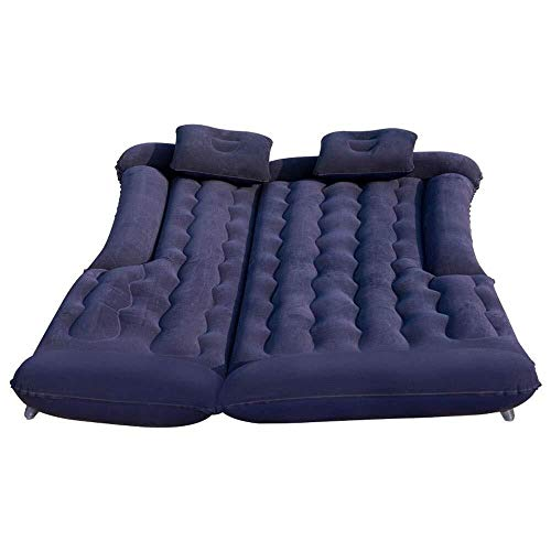 RongDuosi Air Mattress, SUV Auto Bed Set Home Air Mattress Draagbare Opblaasbare Matrassen Camping Buiten, Flocking Oppervlakte(blauw) Outdoor Opblaasbaar Bed Zwembad