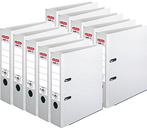 Herlitz Ordner maX.file protect A4, 8 cm breit (10er Pack, weiß)