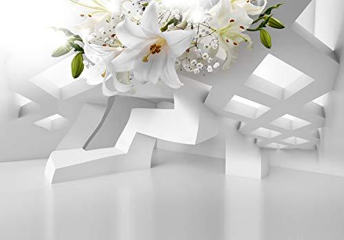decomonkey   Fototapete Blumen Lilien Abstrakt 350x256 cm XL   Tapete   Wandbild   Wandbild   Bild   Fototapete   Tapeten   Wandtapete   Wanddeko   Wandtapete   3d Effekt Architektur Modern