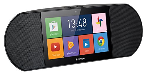 Lenco Multi-Media-Internetradio Diverso-700GY mit eingebauten Stereo-Lautsprechern (7 Zoll Touchscreen, Wifi, Android 5.1, 8GB ROM, Mikrofon, Kamera, USB, SD, HDMI), schwarz