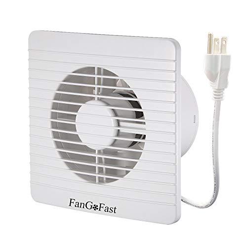 CL Global 4-inch Bathroom Window Fan, FanGoFast 100mm 12W 39CFM Wall Ceiling Extractor Ventilation Exhaust Fan w/UL US Plug