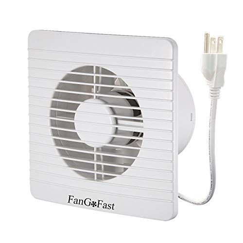 6inch Single Window Fan, FanGoFast 150mm 80CFM Grille Air Wall Extractor Exhaust Fan w/UL US Plug for Household Bathroom Toilet Washroom