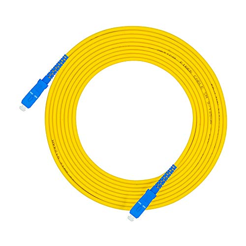 Jeirdus 30Meters 100ft SC to SC Fiber Optic Cable Jumper Optical Patch...