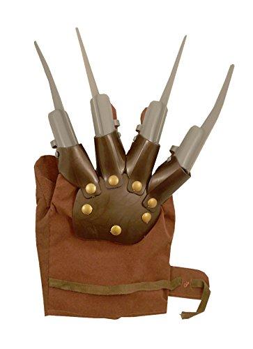 Sofias Closet Déguisement Pince Main Gant Freddy Krueger Wolverine À Piques Halloween Nightmare - 1x Gant, N/A