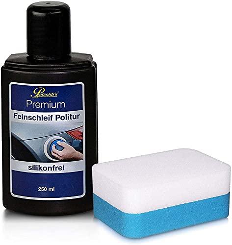 Petzoldt's 250 ml Premium Feinschleif Politur mit Schwamm, entfernt feine Kratzer und Schleifspuren