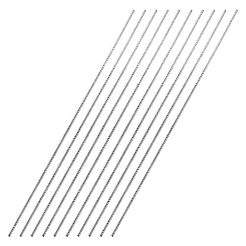 uxcell 1.5mm x 300mm 304 Stainless Steel Solid Round Rod for DIY Craft - 10pcs