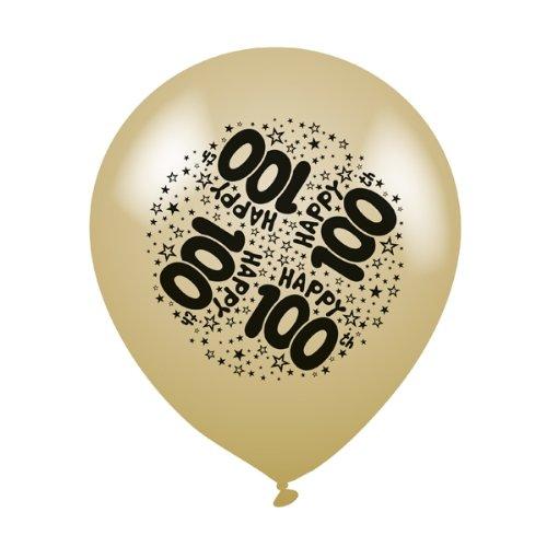 8 Stück 'Happy 100th'mehrfarbig Birthday, Latex Luftballons Party Ballons zum Befüllen mit Luft oder Helium