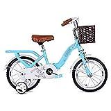 ZMDZA de los niños Bicicleta, Ciclo de Niños Bicicletas Bicicleta de los niños for niña y niño 12 14 16 Pulgadas con Rueda de Formación (Color : C, Size : 16 Inches)