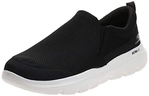 Skechers Men's GO Walk Evolution Ultra-Impeccable Sneaker, Black/White, 12