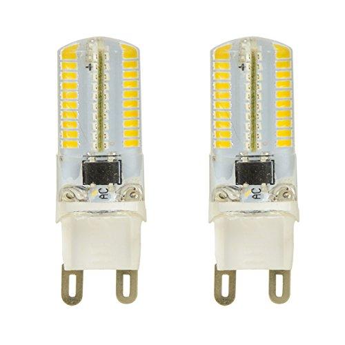 MENGS® 2 Stück Dimmbar G9 LED Lampe 4W AC 220-240V Warmweiß 3000K 80x3014 SMD Mit Silikon Mantel