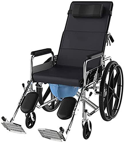 Silla de Ruedas, Seguridad portátil Plegable de la Scooter portátil verificada con el Inodoro Multifuncional Push-Push Scooter para los Ancianos con discapacidades
