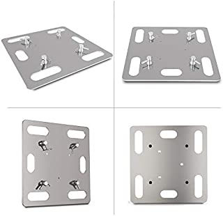 Mophorn Truss Base Plate 20x20 Inch Lighting Truss Base Plate Aluminum Alloy Lighting Truss Base Plate Fits Square Triangle Linear Lighting