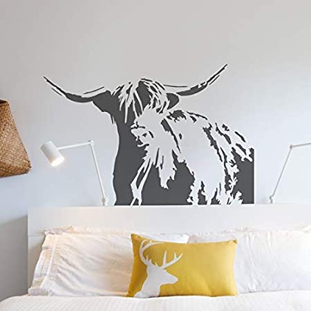 Paint Walls Furniture Home Decorating Painting Stencil Reusable Stencils Highland Cow Stencil XS//11X16CM Create Bespoke Painted finishes to Home Decor /& Craft Projects Fabrics