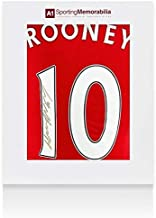 Wayne Rooney Signed Manchester United Shirt 2016/17 Number 10 Gold Ink Fan Style - Autographed Soccer Jerseys