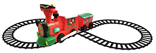 Kiddieland Disney Mickey & Minnie Ride-on Christmas Train with Caboose