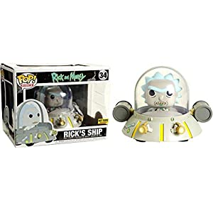 Funko Pop Rick en la nave (Rick & Morty Rides 34) Funko Pop Rick & Morty
