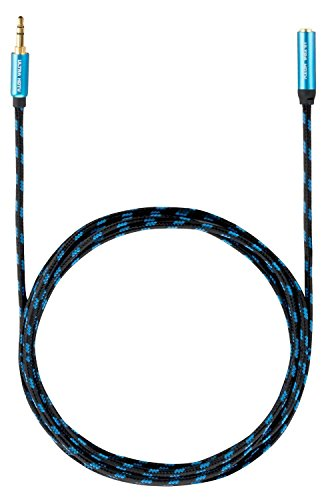 Ultra HDTV Premium AUX-Verlängerungskabel 10 Meter | Audio-Kabel 3,5mm auf 3,5mm | Klinken-Kabel mit Metall-Adaptern