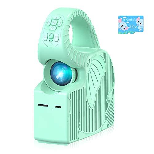 Proyector para Niños ROTEK, Mini Proyector LED Compatible con Películas, Música, Imágenes, Proyector Portátil HD para Educación de la Primera Infancia, Baby Story Projector Xmas Gift para Niños