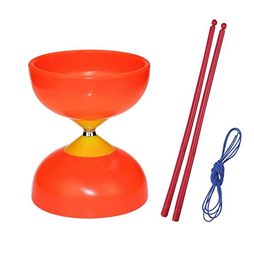 Bearing Diabolo Set, Chinese Yoyo Toy with Carbon Sticks, Optimal Play and Performance by Juggle Dream