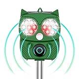 【令和2年進化版】猫よけ 動物撃退器 害獣撃退器 超音波 ソーラー&USB充電式 警報音/強光と超音波で撃退 14LED搭載 10時間連続使用可 PIR赤外線センサー 強力フラッシュライト IP66防水 5モード 猫よけグッズ 13.5~45.5KHz 超音波スピーカー搭載 10m感知範囲 糞被害対策 設置簡単 差し込むと壁掛け型 音量調節可 猫退治 猫/鳥/ネズミ/犬/狐/コウモリ/アライグマ/ノイシシなどの動物除け 芝生/畑/庭園/農場/花壇/駐車場/公園/果樹園など保護