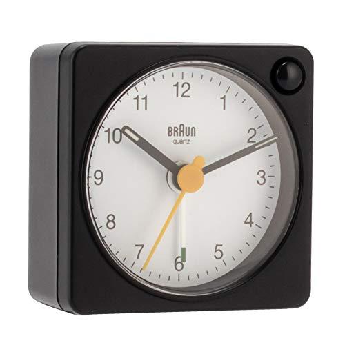 [ ブラウン ] BRAUN 時計 置き時計 アラーム クロック BC02XBW ブラック×ホワイト Black/White Classic Travel Analogue Alarm Clock 目覚まし時計 アナログ 置時計 ブランド [並行輸入品]