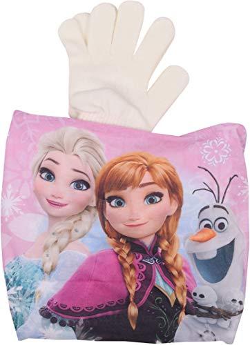 Disney Frozen 2 Coordinato Scaldacollo e Guanti Elsa e Anna Bianco